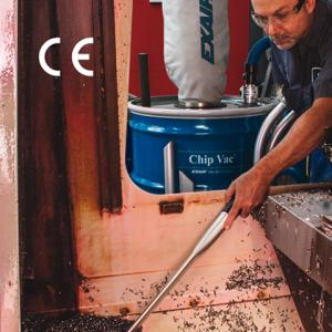Aspiradora neumática chip vac ideal para la limpieza de residuos de operaciones de maquinado o torneado.