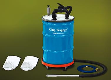 Aspiradora neumática para limpieza de CNC ChipTrapper incluye todo lo que necesita para funcionar.