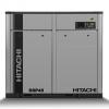 Compresor de tornillo libre de aceite Hitachi serie DSP con rotores en acero inoxidable.