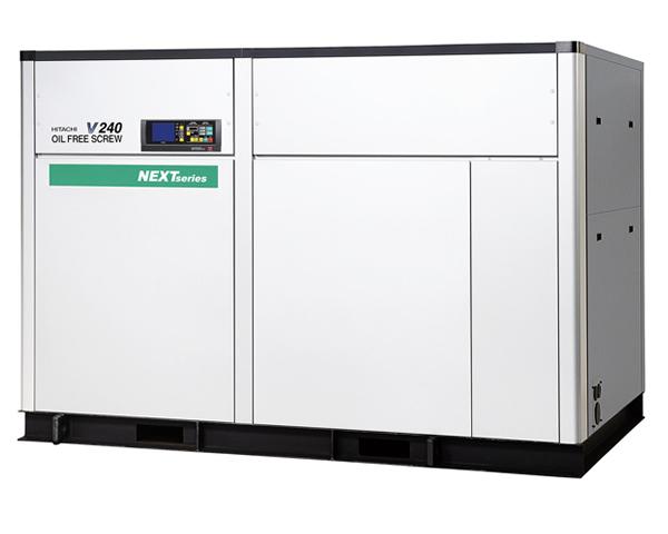 Compresores de tornillo libres de aceite de hasta 240 kW.