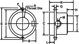 Dimensiones del super amplificador de aire Exair.