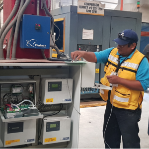 El controlador inteligente de compresores Metacentre de EnergAir funciona con cualquier compresor de desplazamiento positivo sin importar marca o modelo.