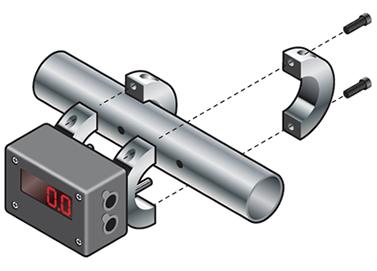 Flujómetro digital Exair de fácil instalación para medición de flujo de aire comprimido.
