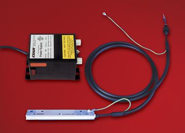 Kit de barra ionizadora Exair con fuente de poder.