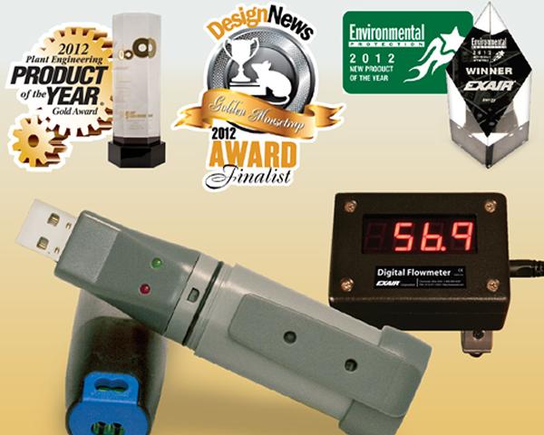 Medidor digital de flujo Exair con diseño condecorado con varios premios internacionales.