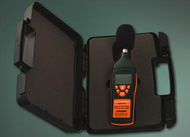 Medidor digital de nivel de ruido con estuche.