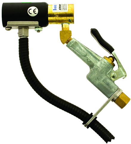 Pistola de aire Ionizado Exair elimina estática usando iones de ozono que genera instantáneamente.