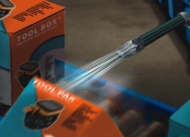 Súper boquilla de Aire Exair de alta potencia descarta piezas pesadas de la línea de producción.
