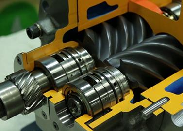 Unidad de compresión de compresor de tornillo libre de aceite Hitachi DSP.