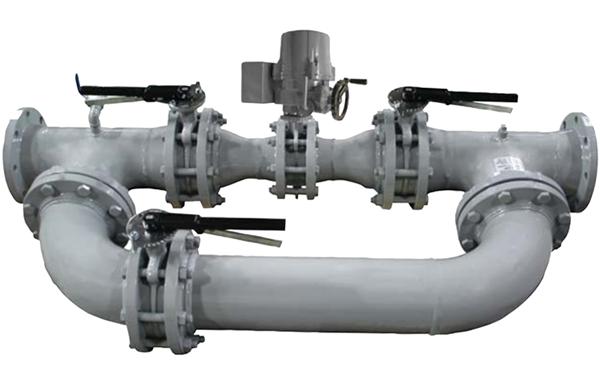 Válvula de control de flujo iCX montada con By-Pass