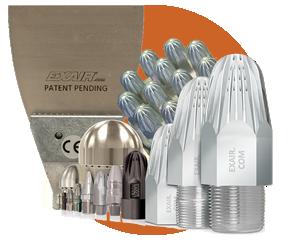 Boquillas de aire comprimido Exair - Fuerte ahorro de aire comprimido al reemplazar tubería abierta o soluciones hechizas.