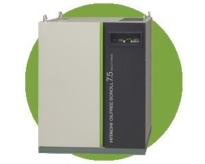 Compresores Hitachi SRL - Compresores de aire tipo Scroll totalmente exentos de aceite.