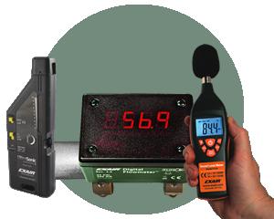 Equipo de Optimización Exair - Mida y optimice el consumo de aire comprimido y los niveles de ruido.