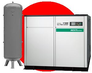 Equipo de generación y tratamiento - Compresores de aire, secadores, filtros y tanques.