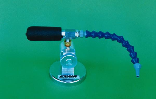 Mini cooler Exair incluye una base magnética para su fácil montaje en cualquier superficie ferromagnética.