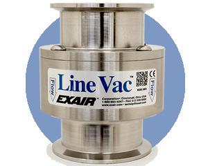 Transportadores neumáticos Exair - Line Vac - Pueden transportar material granulado usando tubería existente sólo con aire comprimido.